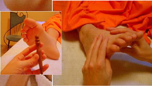 talpmasszázs kézzel, talpmasszázs pálcával